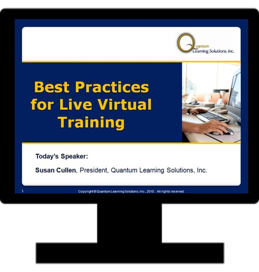 Best Practices for Live Virtual Training